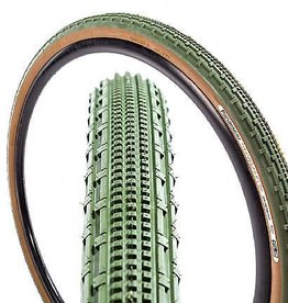 Kenda Panaracer Gravel King SK 700x43 Tubeless Green Tread Brown Sidewall Tire