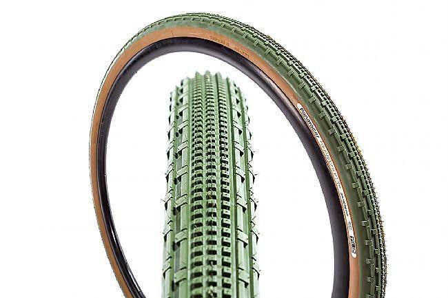 Kenda Panaracer Gravel King SK 700x43 Tubeless Green Tread Brown Sidewall Tire