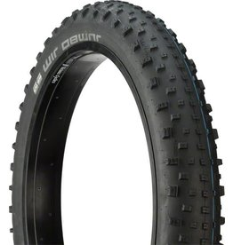 Schwalbe Schwalbe Jumbo Jim SnakeSkin Tubeless Easy Tire, 26 x 4.0 EVO Folding Bead Black with Addix SpeedGrip Compound
