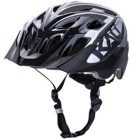 Kali Protectives Kali Chakra Youth Snap Helmet: Gloss Black/Gray, One Size