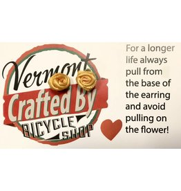 Vermont Bicycle Shop Vermont Bicycle Shop Crafted Flower Earrings