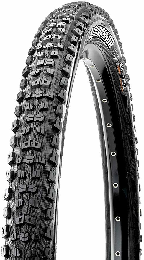 Maxxis Maxxis Aggressor Tire 27.5 x 2.30, Folding, 60tpi, Dual Compound, EXO, Tubeless Ready, Black