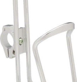 Dimension Water Bottle Cage with adjustable HB clamp: Silver