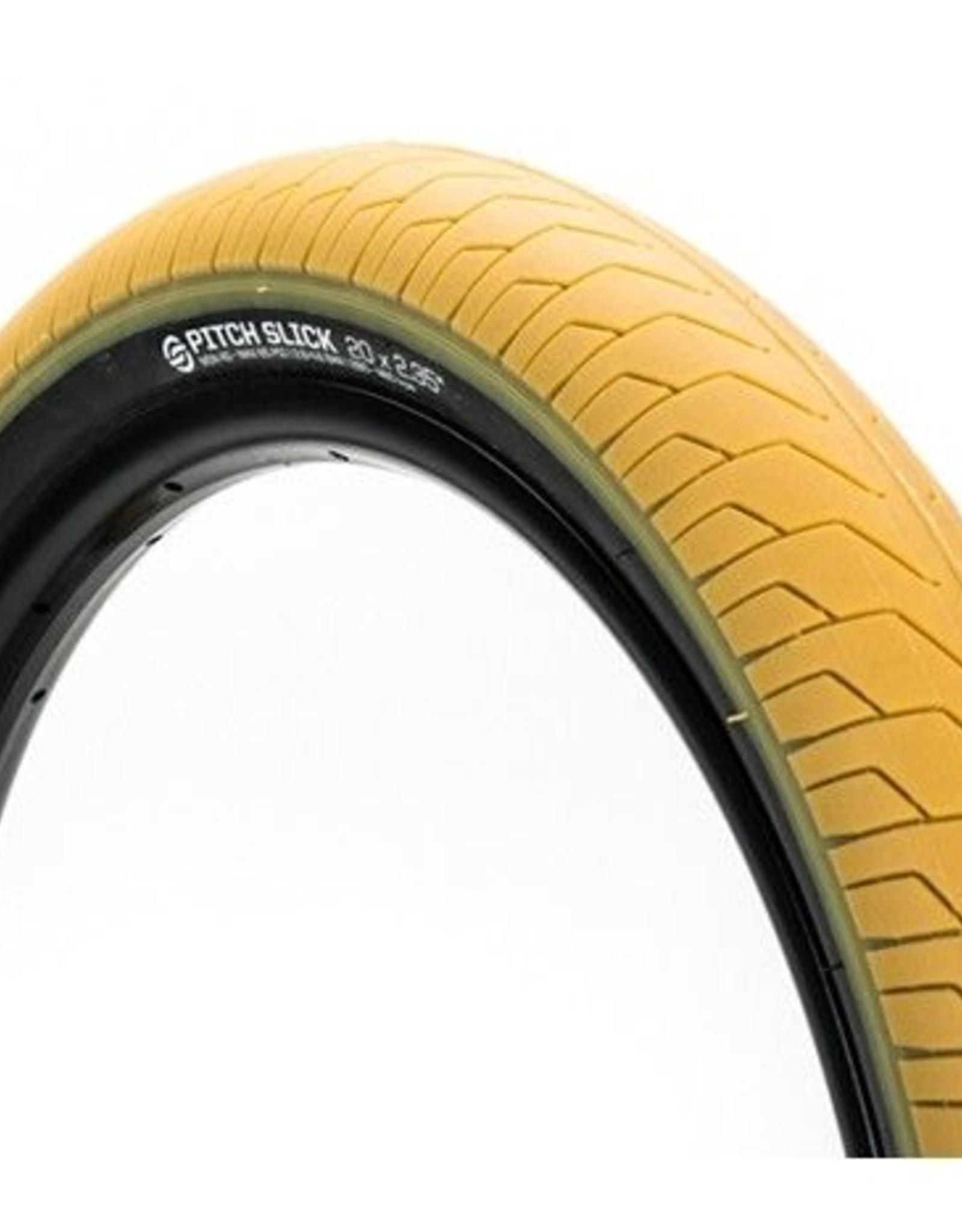 """Salt Pitch Slick Tire 20"""" X 2.25"""" 65 PSI Tan with Black Sidewalls"""