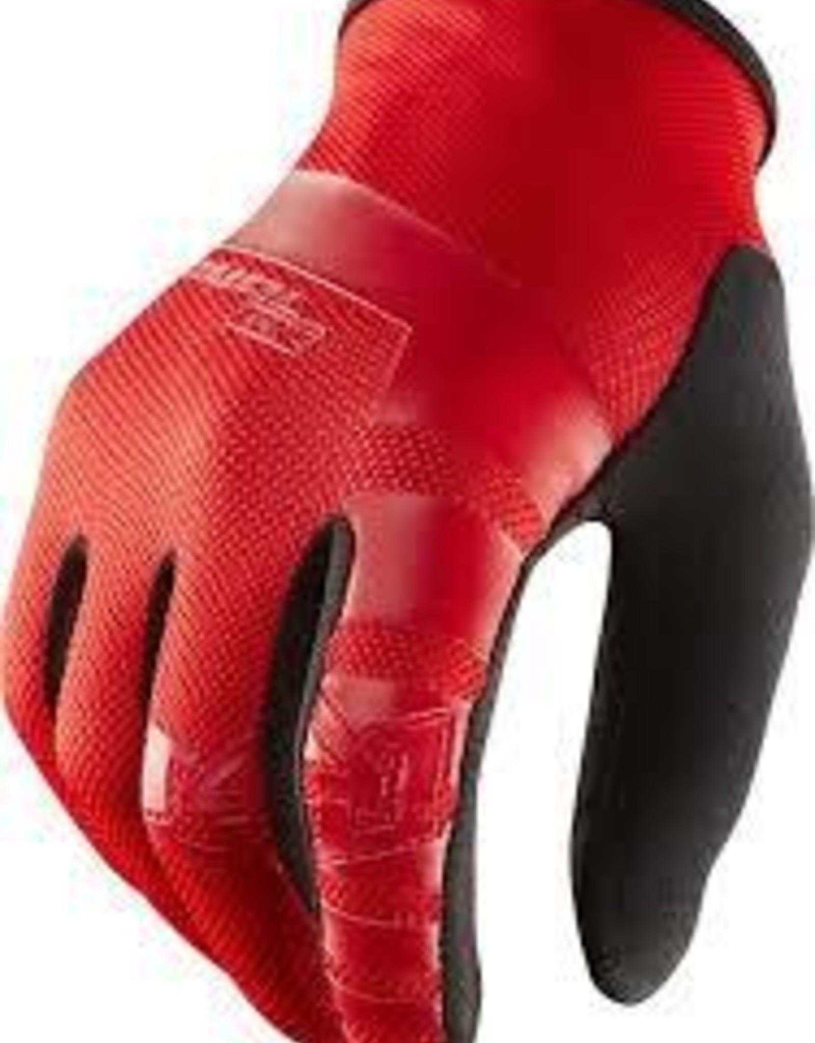 Royal Core Men's Full Finger Glove: Flo Red/Black LG