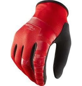 Royal Core Men's Full Finger Glove: Flo Red/Black LG