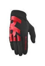 SixSixOne Comp Full Finger Glove: Black/Red SM
