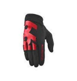 SixSixOne Comp Full Finger Glove: Black/Red SM