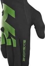 SixSixOne Comp Full Finger Glove: Black/Green SM