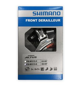 Shimano Altus M313 7/8-Speed Triple Down-Swing Dual-Pull Front Derailleur