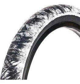 "Eclat Fireball 20 x 2.30"" Tire 100 PSI White with Black Strokes"