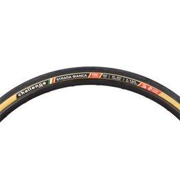 Challenge Challenge Strada Bianca Tire: Handmade Clincher Open Tubular, 700x30, 260tpi, Black/Tan