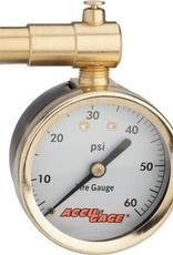 Meiser Meiser Presta-Valve Dial Gauge with Pressure Relief: 60psi
