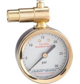 Meiser Meiser Presta-Valve Dial Gauge with Pressure Relief: 30psi