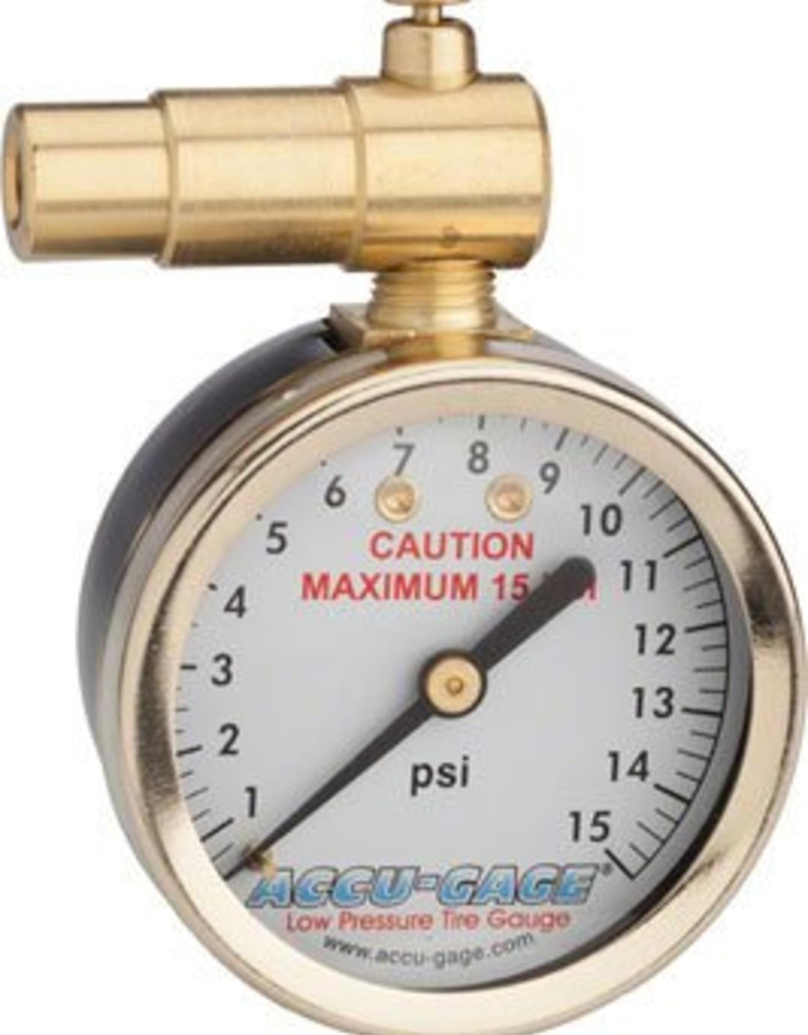 Meiser Meiser Presta-Valve Dial Gauge with Pressure Relief: 15psi