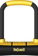 "OnGuard Brute Mini U-Lock: 3.55"" x 5.52"", Black/Yellow"