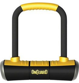 "OnGuard Brute Mini U-Lock: 3.55"" x 5.52"", Black/Yellow"