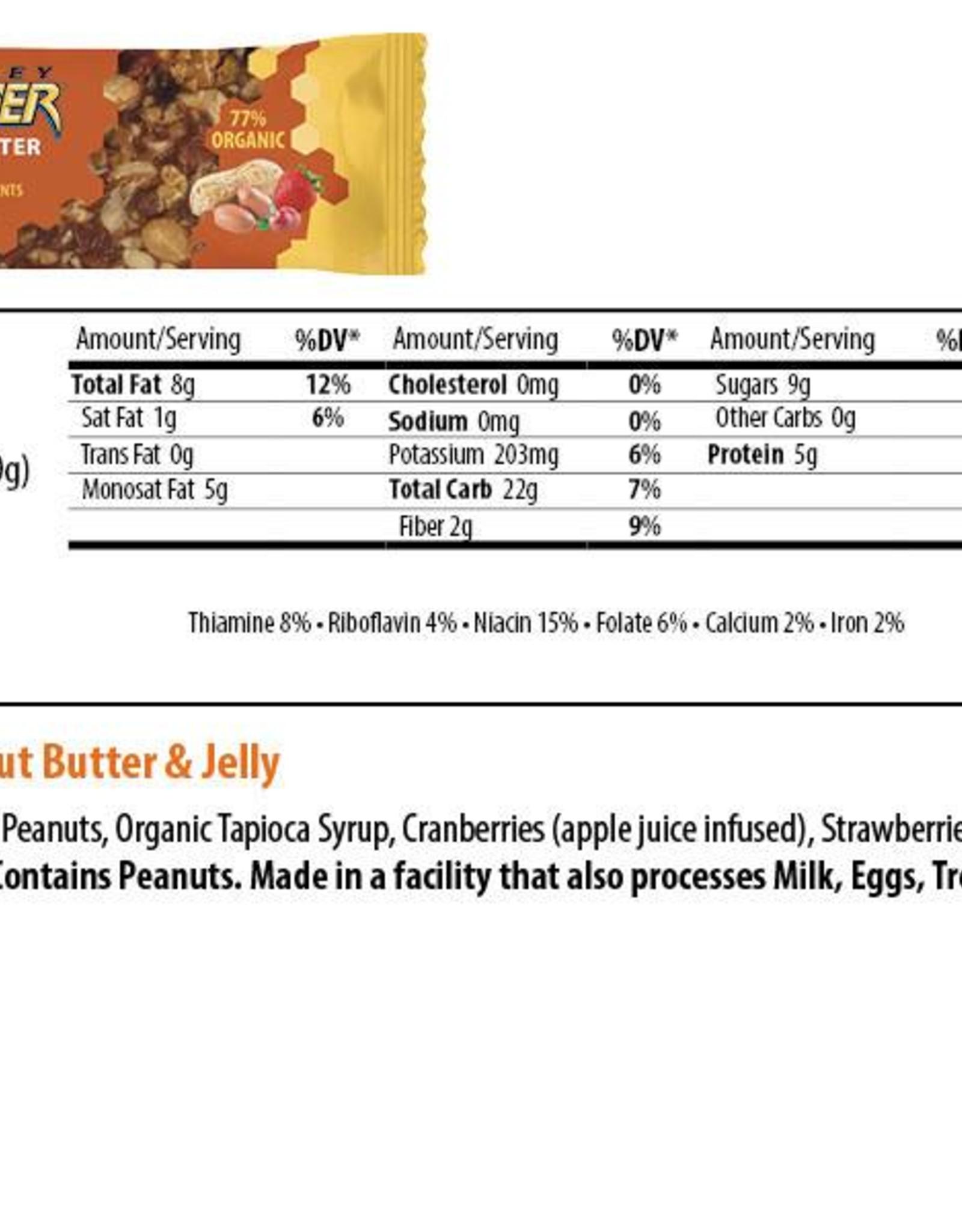 Honey Stinger Honey Stinger Organic Peanut Butter and Jelly Snack Bar