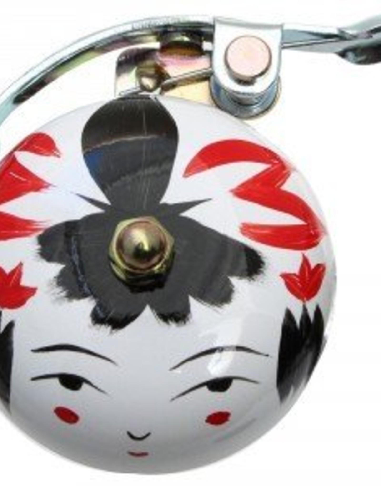 Crane Painted Suzu Bell Onna