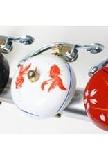 Crane Painted Suzu Bell Goldfish