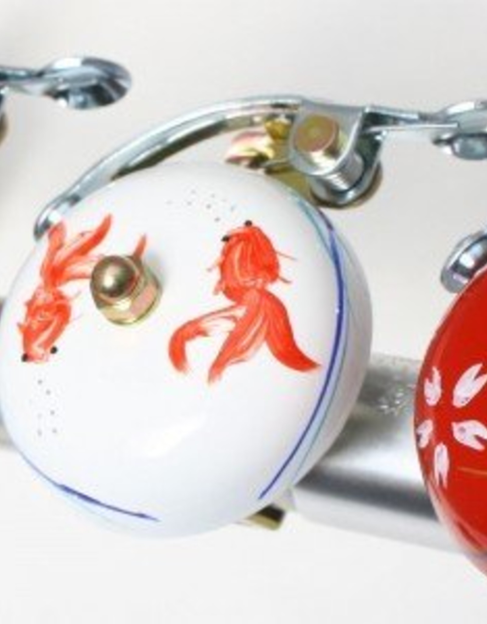 Crane Painted Suzu Bell Goldfish