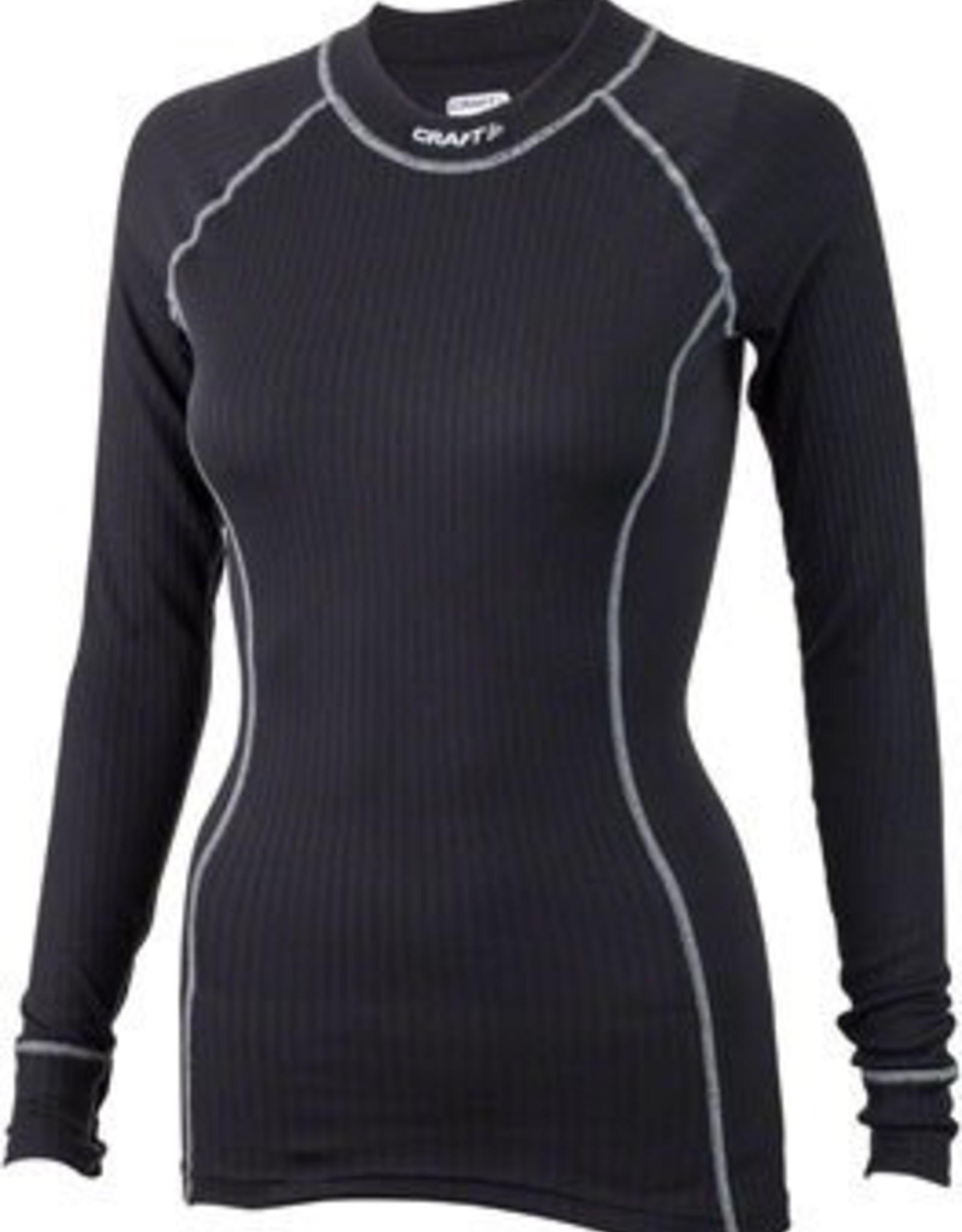 Craft Craft Active Women's Crewneck Long Sleeve Top: Black LG