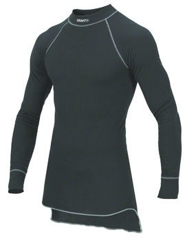 Craft Craft Active Long Sleeve Crew Base Layer Top: Black SM