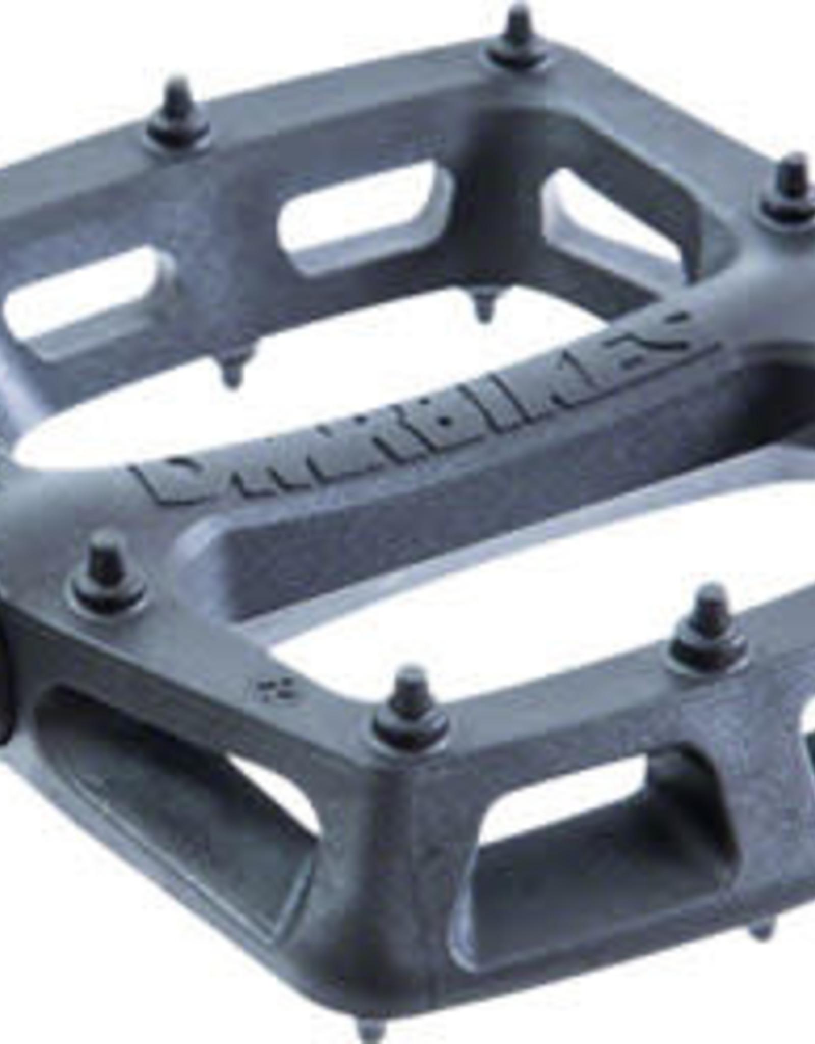 """DMR V6 Pedals - Platform, Plastic, 9/16"""", Black"""