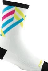 Darn Tough Vermont Darn Tough Vermont Graphic Stripe Micro Crew Ultra Light Socks - 4 inch, White, Women's, Small