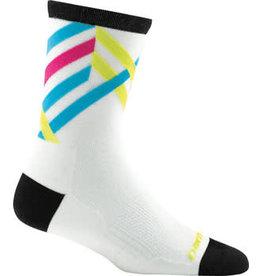 Darn Tough Vermont Darn Tough Vermont Graphic Stripe Micro Crew Ultra Light Socks - 4 inch, White, Women's, Medium
