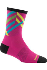 Darn Tough Vermont Darn Tough Vermont Graphic Stripe Micro Crew Ultra Light Socks - 4 inch, Pink, Women's, Medium