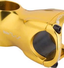 """Promax Promax S-29 Stem - 60mm, 31.8 Clamp, +/-0, 1 1/8"""", Aluminum, Gold"""