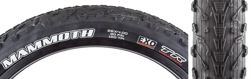 Maxxis Maxxis Mammoth 26x4.0 Folding Bead Black Tire