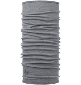 Buff Buff Midweight Merino Wool Multifunctional Headwear: Light Gray Melange, One Size
