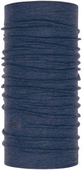 Buff Buff Midweight Merino Wool Multifunctional Headwear: Night Blue Melange, One Size