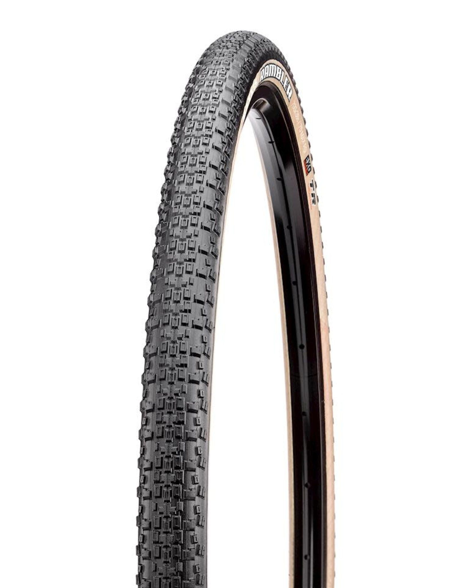 Maxxis Maxxis Rambler Tire - 700 x 38, Tubeless, Folding, Black/Tan, Dual, EXO
