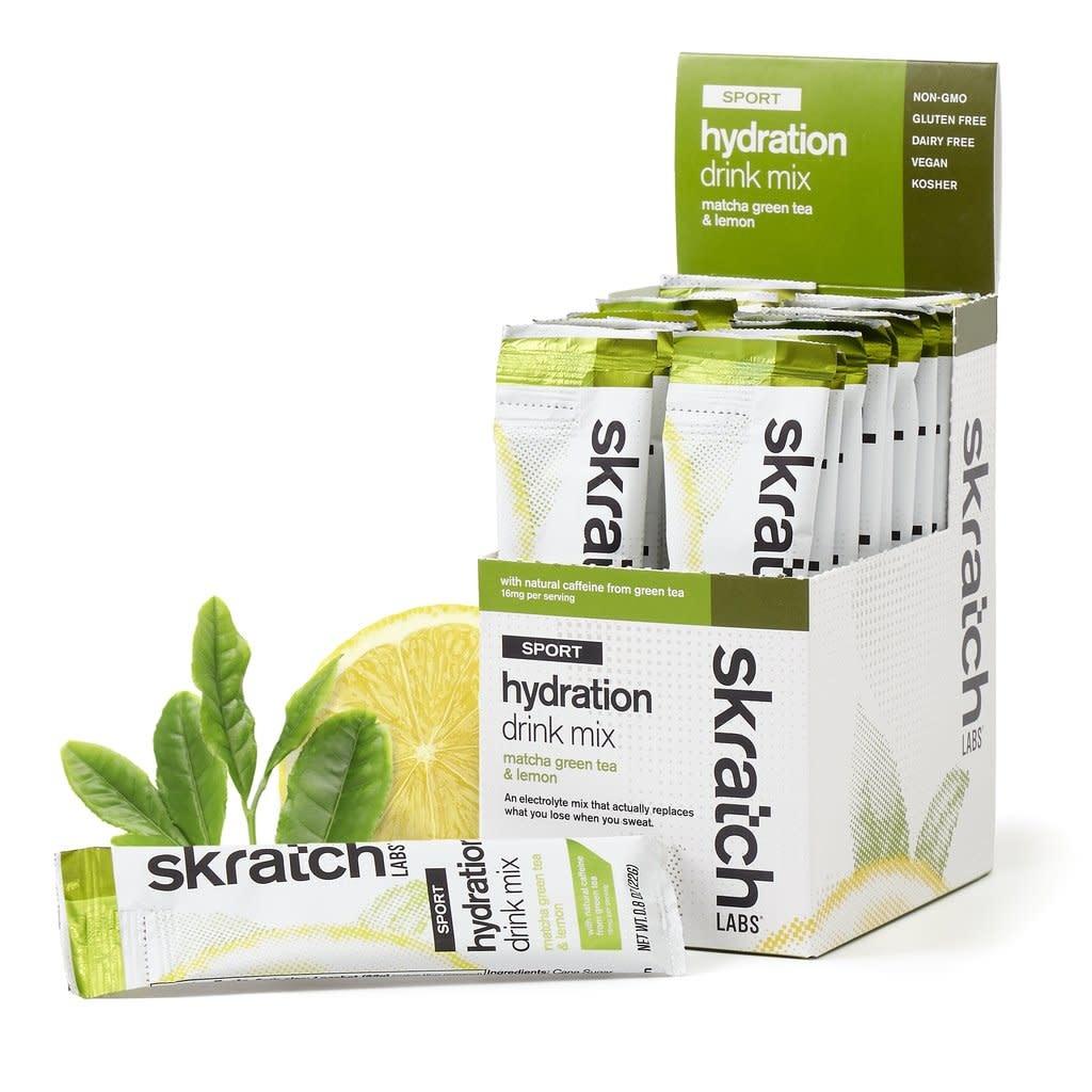 SKRATCH LABS Skratch Labs Sport Hydration Drink Mix - Matcha Green Tea & Lemon (w/Caffeine) / Single Serving