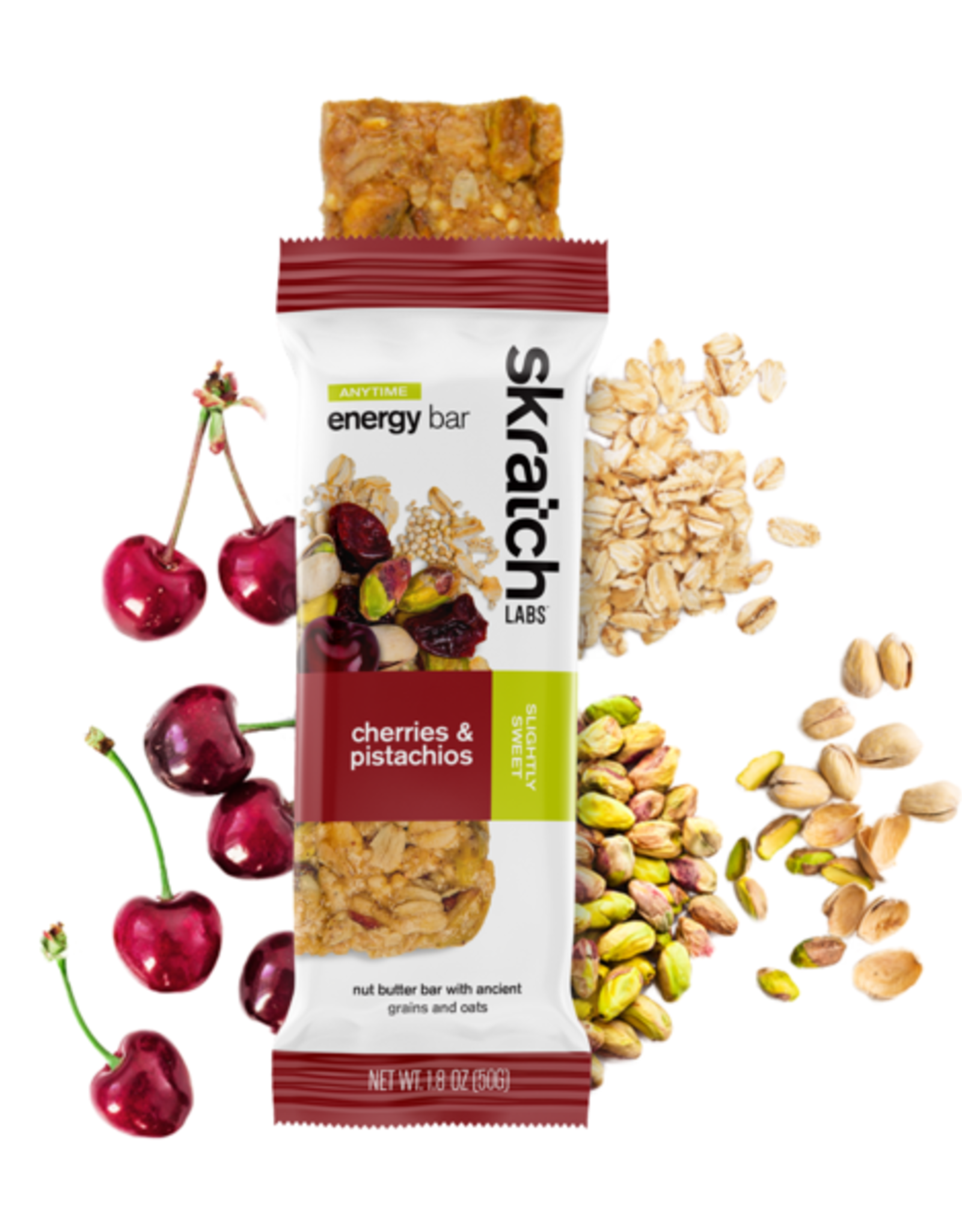 SKRATCH LABS Skratch Labs Anytime Energy Bar - Cherries & Pistachios