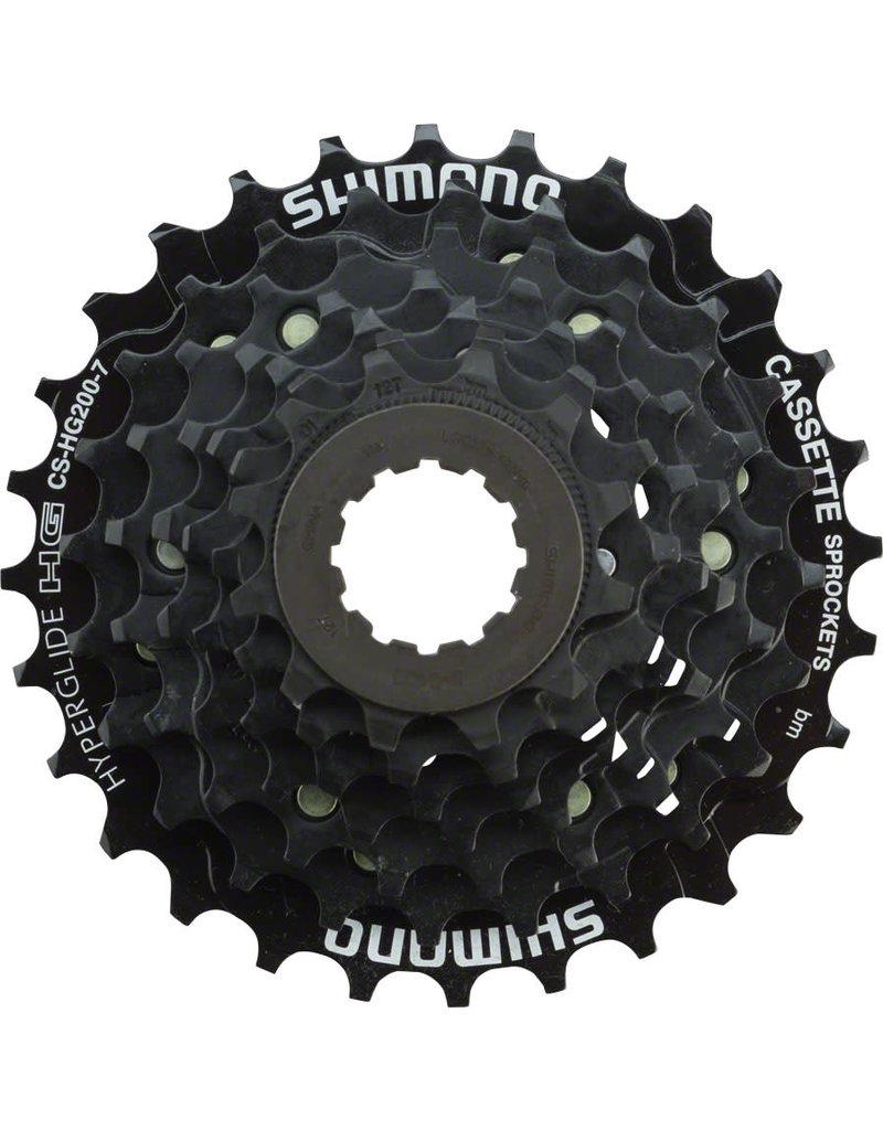 Shimano Shimano Tourney CS-HG200 Cassette - 7 Speed, 12-28t, Black