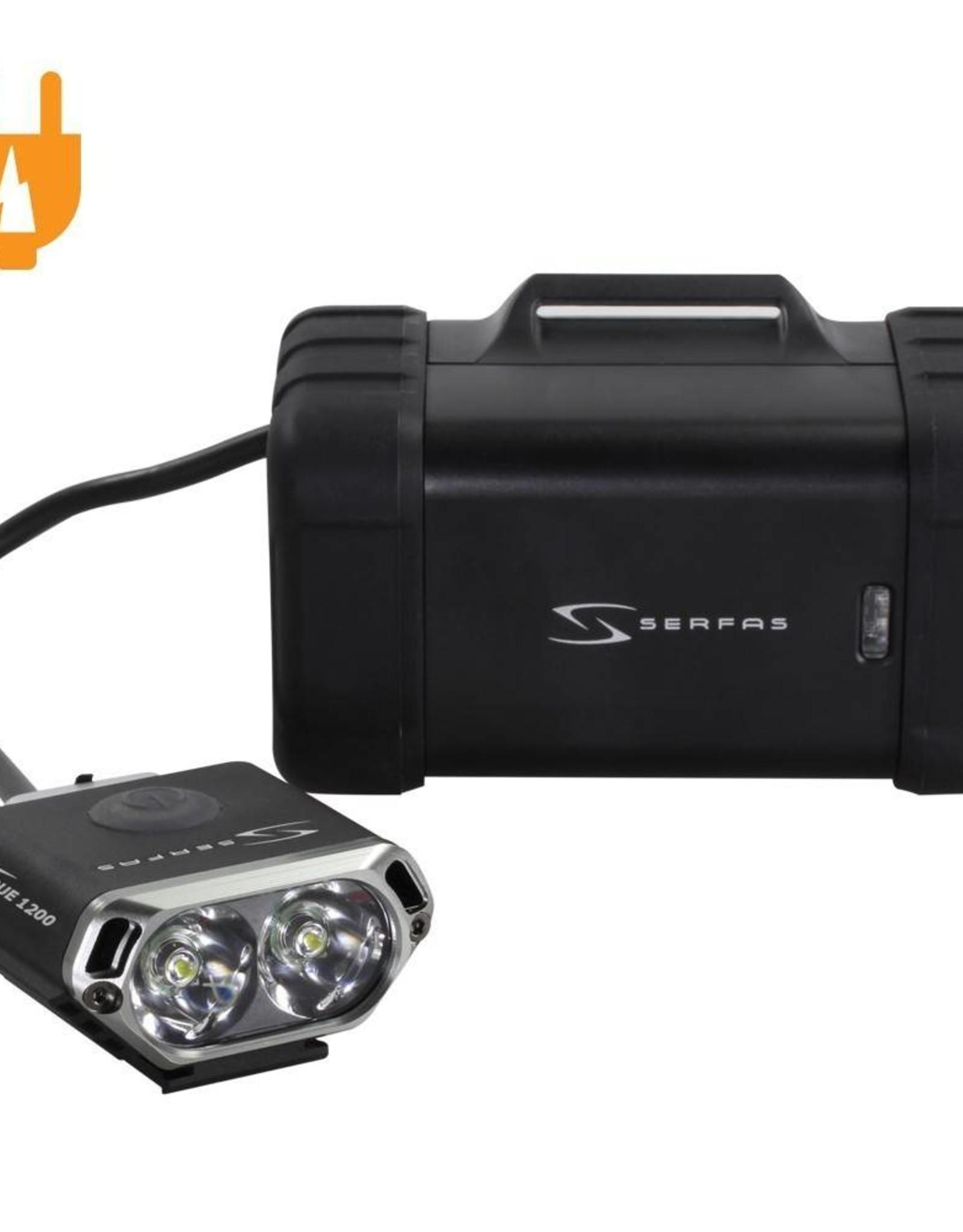 Serfas True 1200 USB Headlight w/ Helmet Mount
