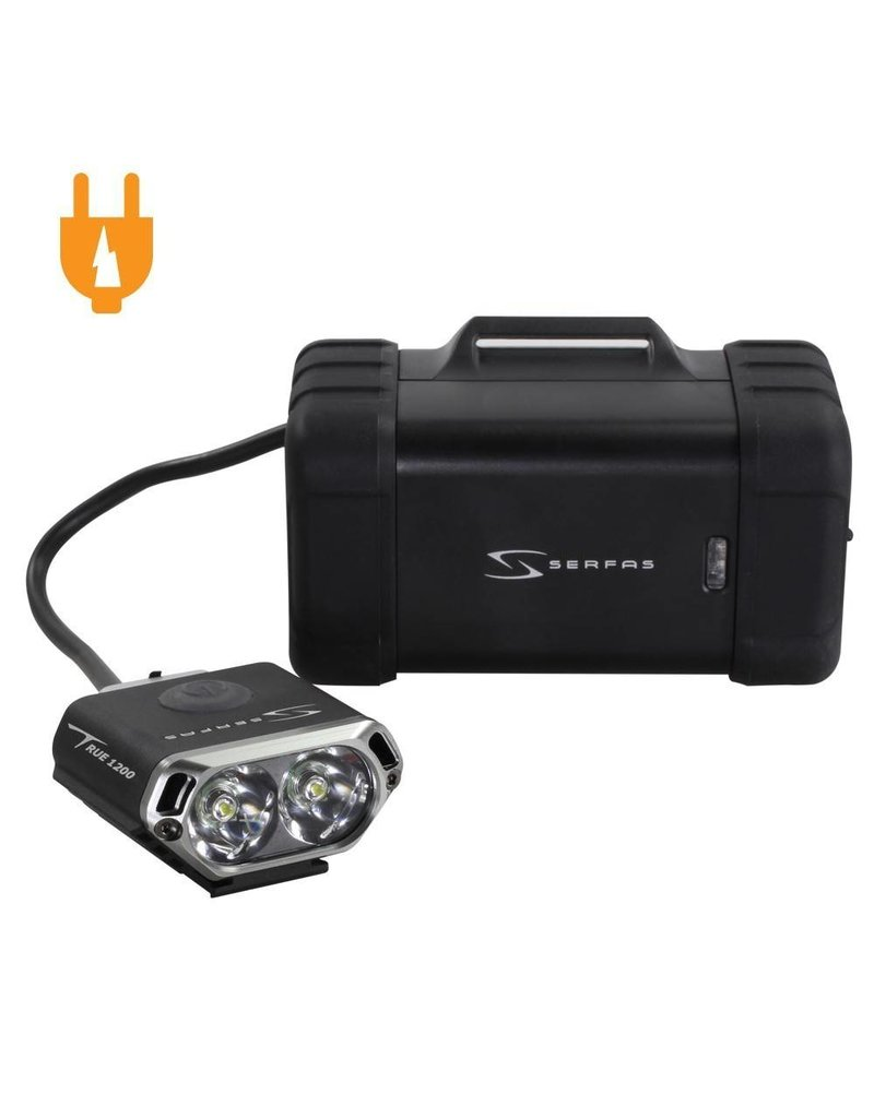 Serfas True 1200 USB Headlight w/ Helmet Mount