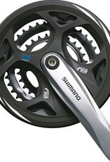 Shimano Shimano Altus M311 7/8-Speed 175mm 22/32/42t Square Crankset with Chainguard, Silver/Black