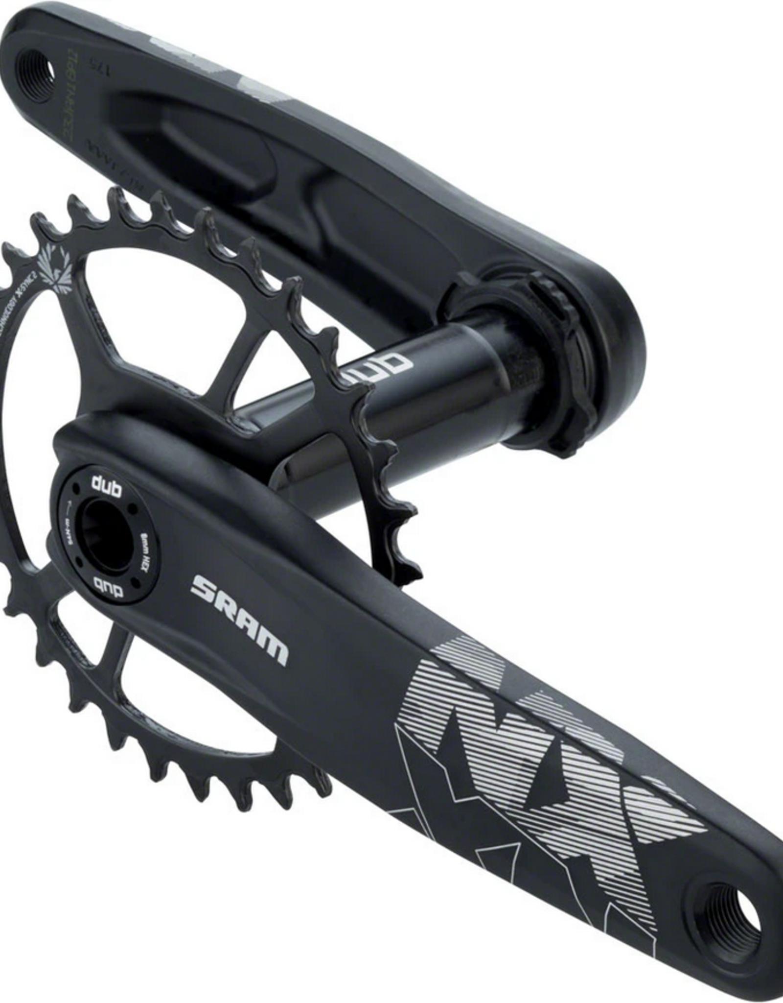 SRAM SRAM NX Eagle Boost Crankset - 175mm, 12-Speed, 32t, Direct Mount, DUB Spindle Interface, Black
