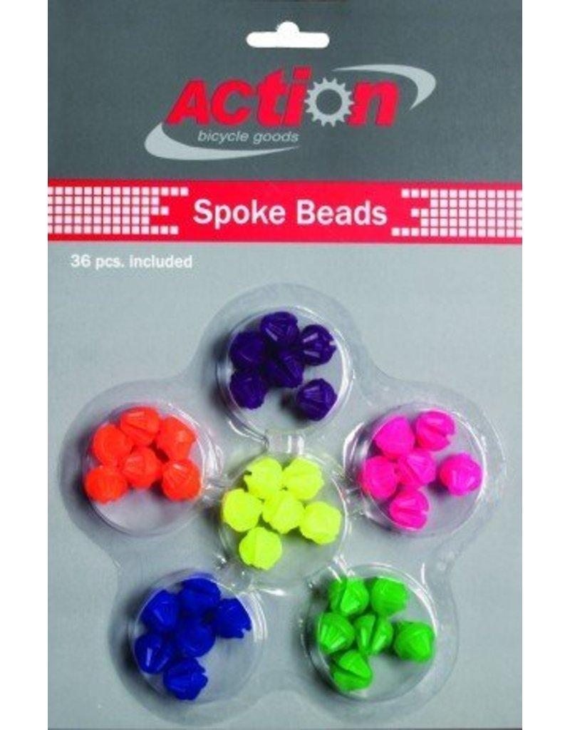 Spokey Dokeys Spoke Beads Neon Multi Color