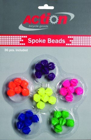 Spokey Dokeys Spoke Beads Neon Multi Color