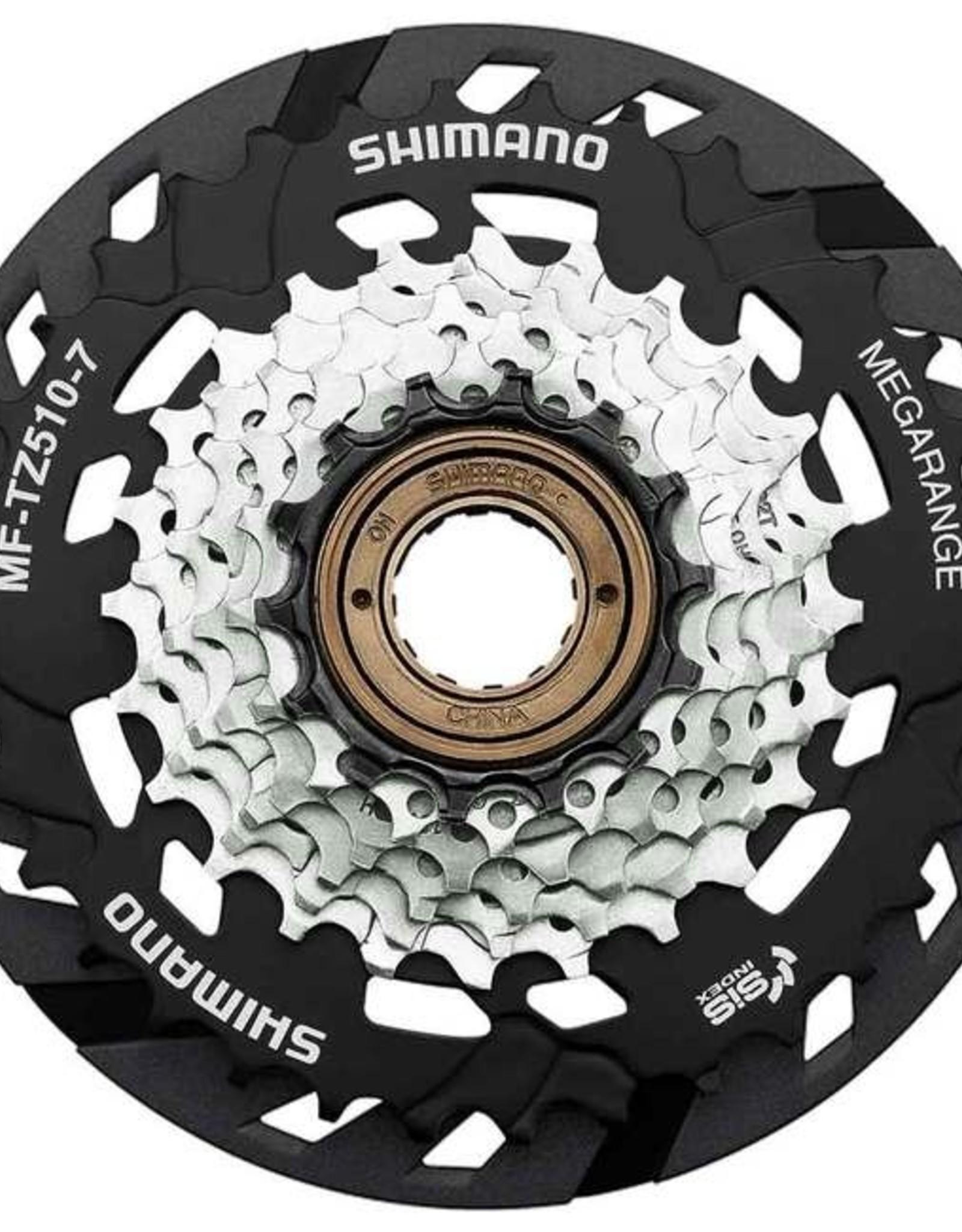 Shimano Shimano Multiple Freewheel Sprocket, MF-TZ510 14-34T, 7-SPEED, 14-16-18-20-22-24-34T, W/spoke Protector