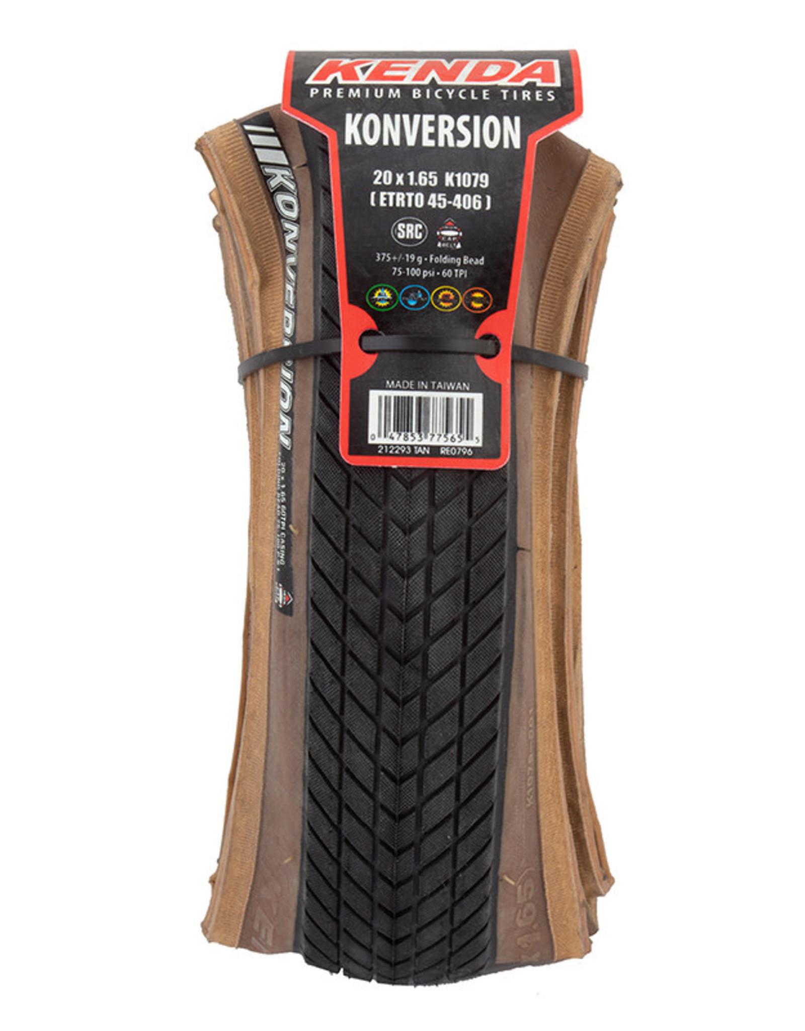 Kenda Konversion Tan Sidewall 20x1.65 Folding Tire