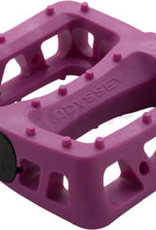 "Odyssey Twisted PC Pedals - Platform, Composite/Plastic, 1/2"", Purple"