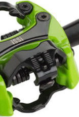 """iSSi Flash II Pedals - Dual Sided Clipless, Aluminum, 9/16"""", Lime Green"""