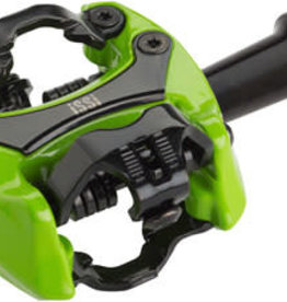 "iSSi Flash II Pedals - Dual Sided Clipless, Aluminum, 9/16"", Lime Green"